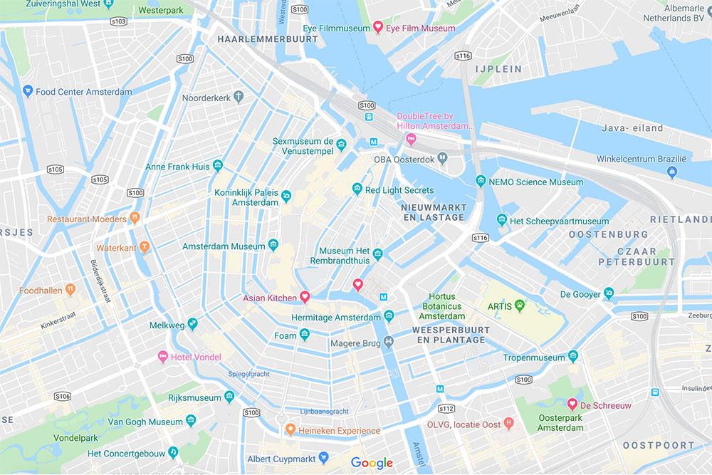 Amsterdam-cosa-vedere-in-4-giorni-mappa