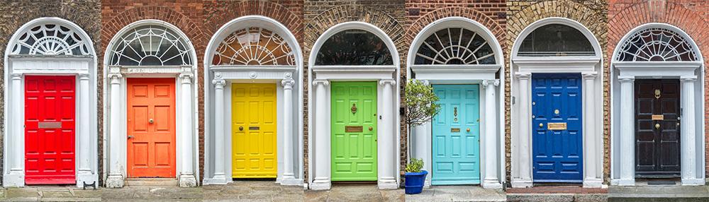 Come organizzare 3 giorni a Dublino porte colorate