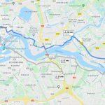 traghetto da Rotterdam a Kinderdijk in bicicletta