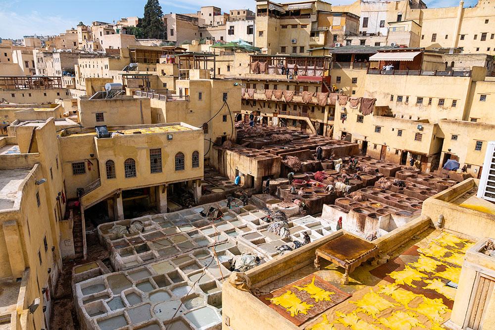 conceria delle pelli fes marocco positivitrip